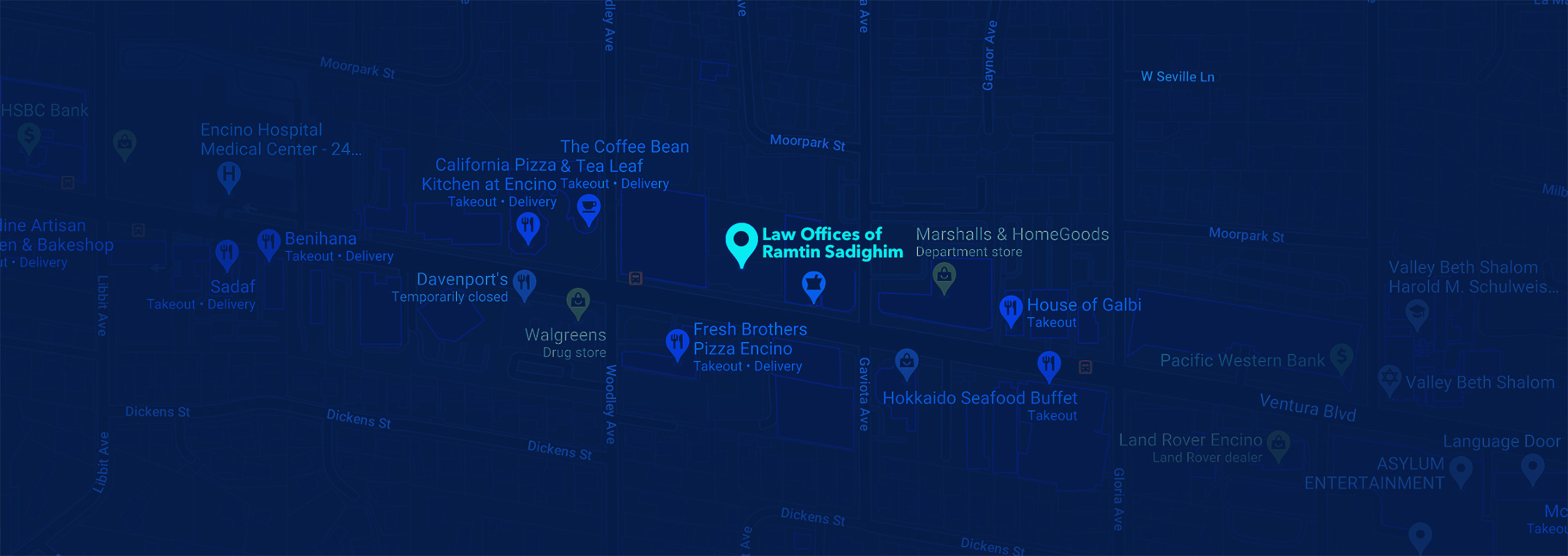 Map Law Offices of Ramtin Sadighim
